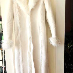 Exquisitely Full Length Fur & Suede winter Coat